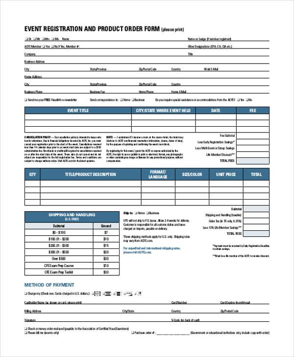 event registration product