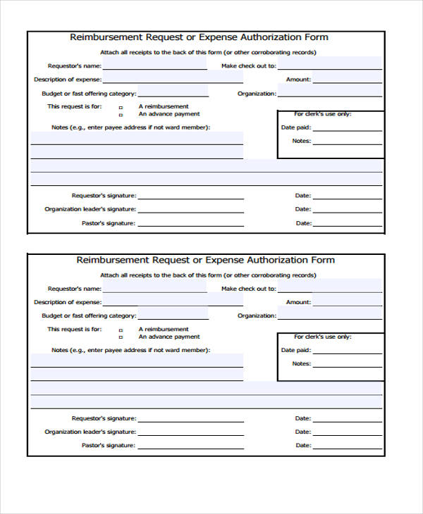 9+ Expense Authorization Form Sample - Free Sample, Example Format ...