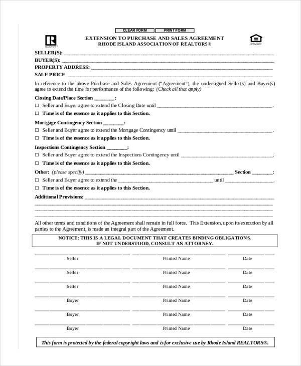 Free Sales Agreement Forms