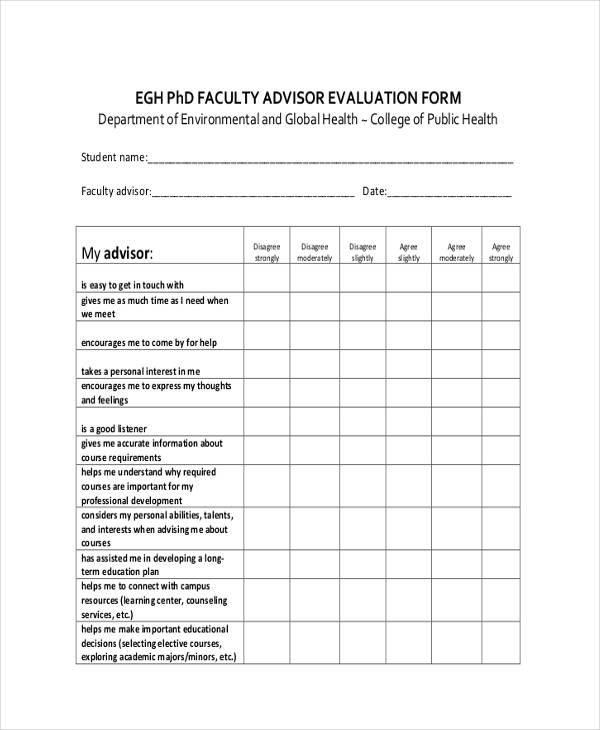 free 11 sample faculty evaluation forms pdf. Black Bedroom Furniture Sets. Home Design Ideas