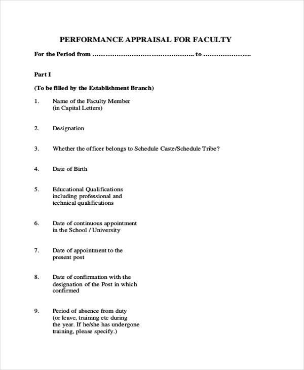 faculty performance evaluation form1