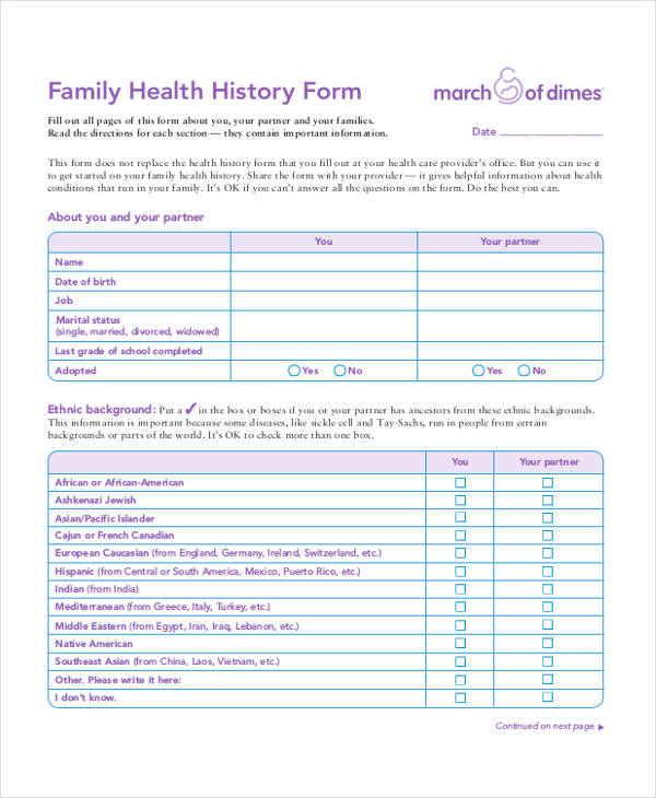 family health history assessment form1