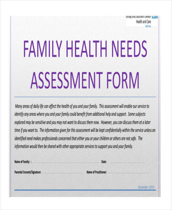family health needs assessment form2