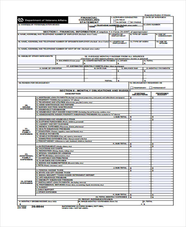financial counseling statement form1