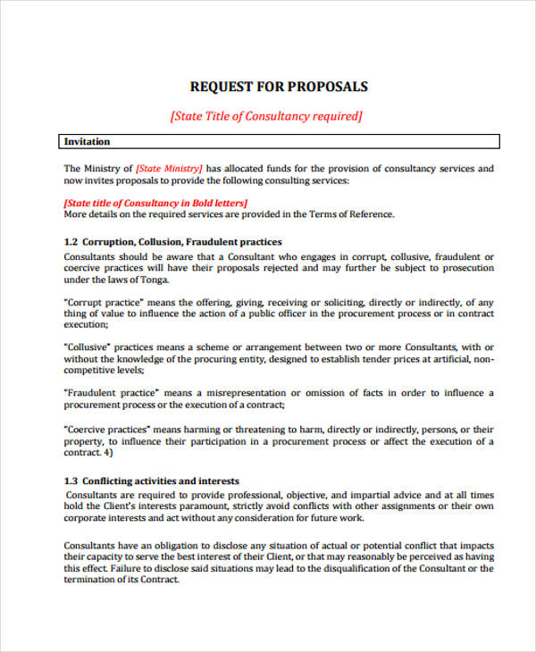 financial request proposal form