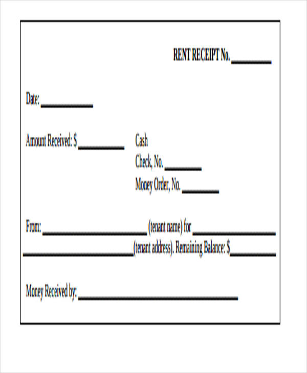 10+ Rent Receipt Form Sample - Free Sample, Example Format Download