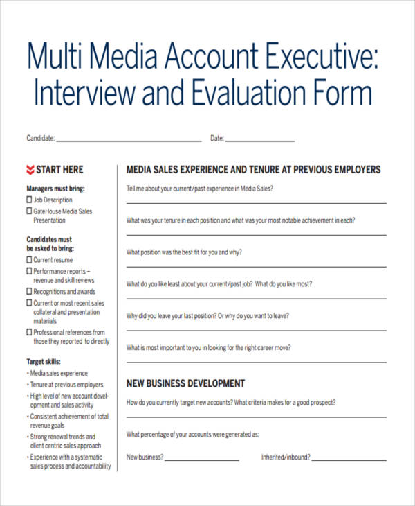 free executive interview feedback