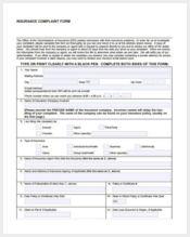 free insurance complaint form1