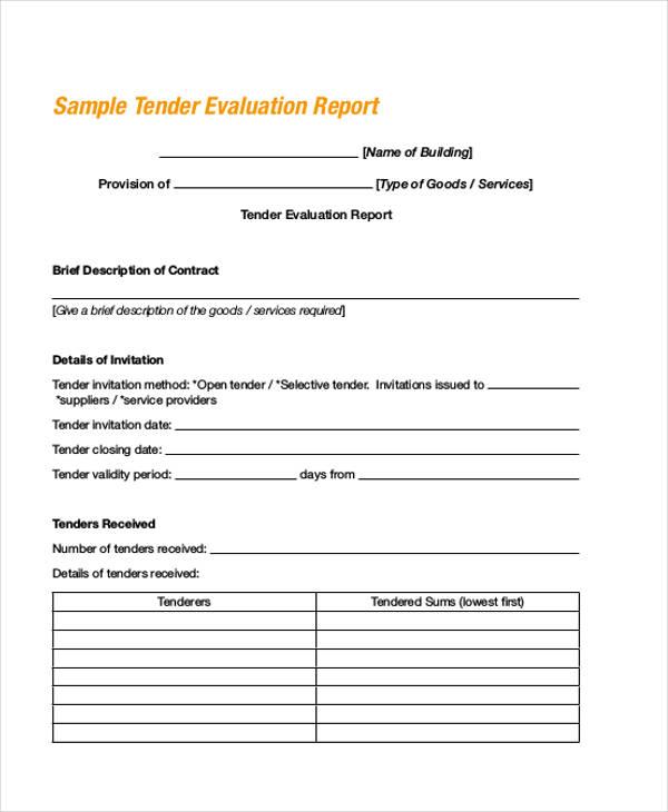 bid evaluation form 7 free documents in word pdf