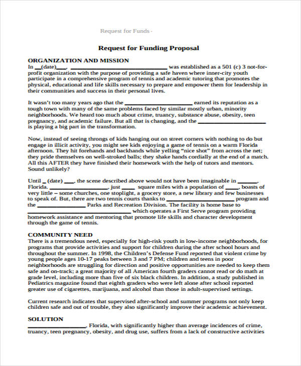 fund request proposal form in pdf