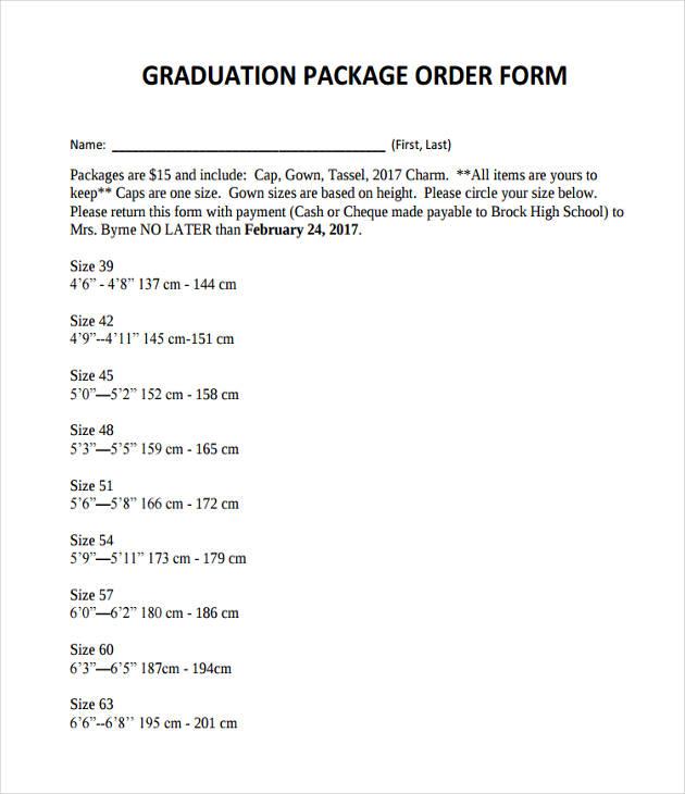 graduation package order1