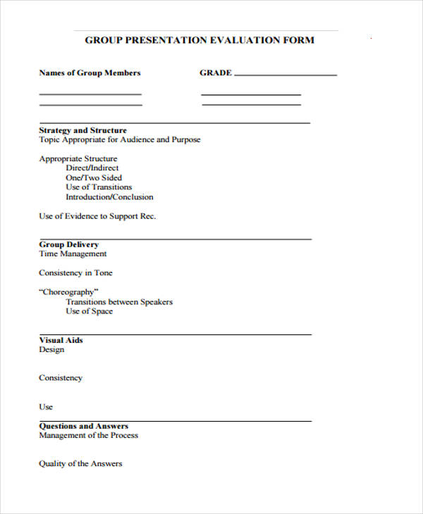 group presentation evaluation feedback form2