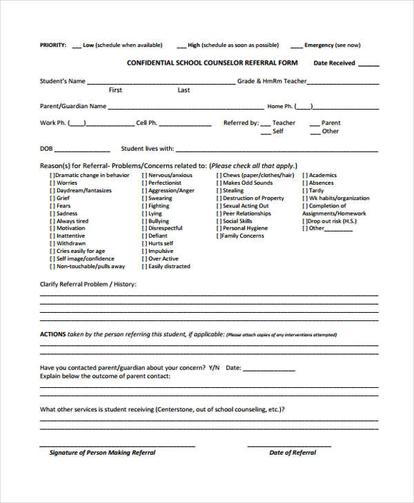high school counseling referral form1