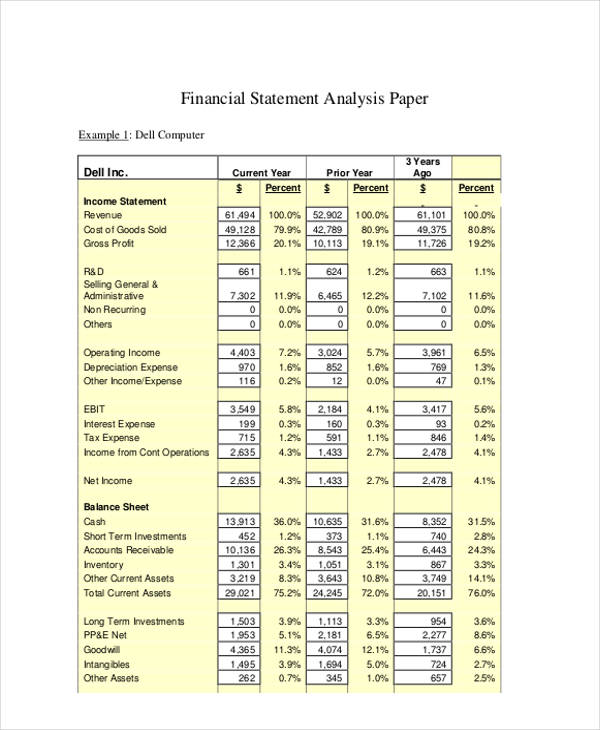 Income Statement Form Sample  Free Sample Example Format