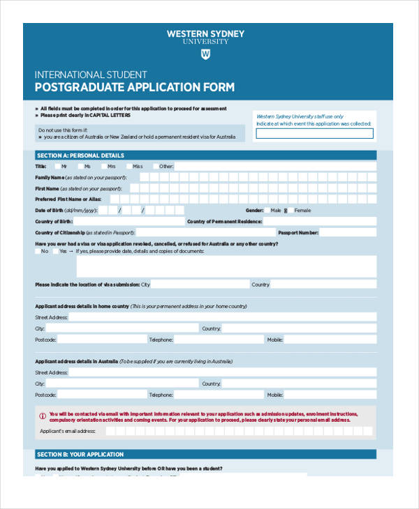 pg form format Submit an application for postgraduate course work offered by uts business  school  do you have an up-to-date cv in a pdf format that can be uploaded.