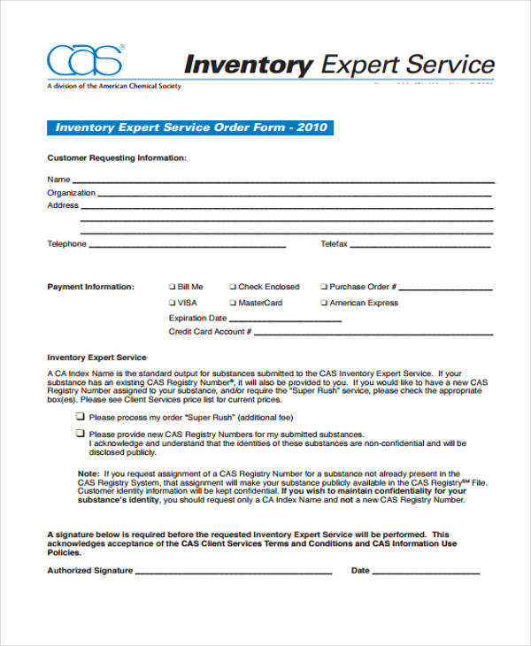 inventory expert service order form1