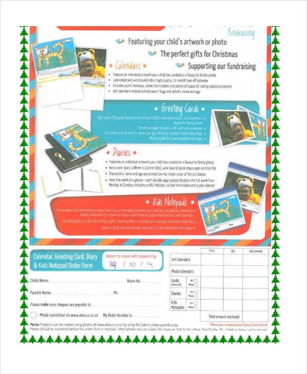 kids calendar fundraiser order