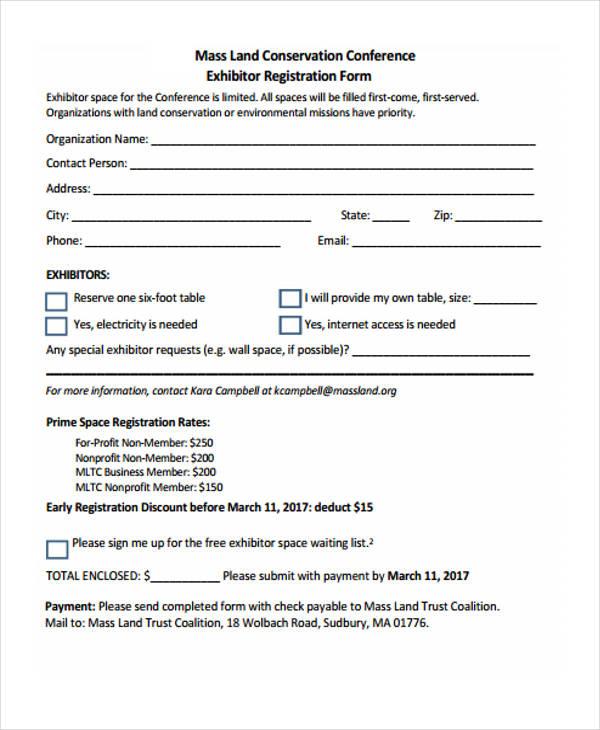 land conference exhibitor registration form
