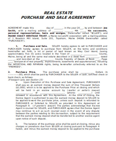 land purchase and sale agreement