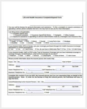 life insurance complaint form sample