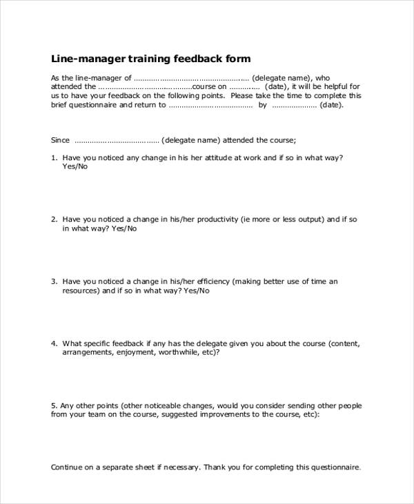 manager feedback