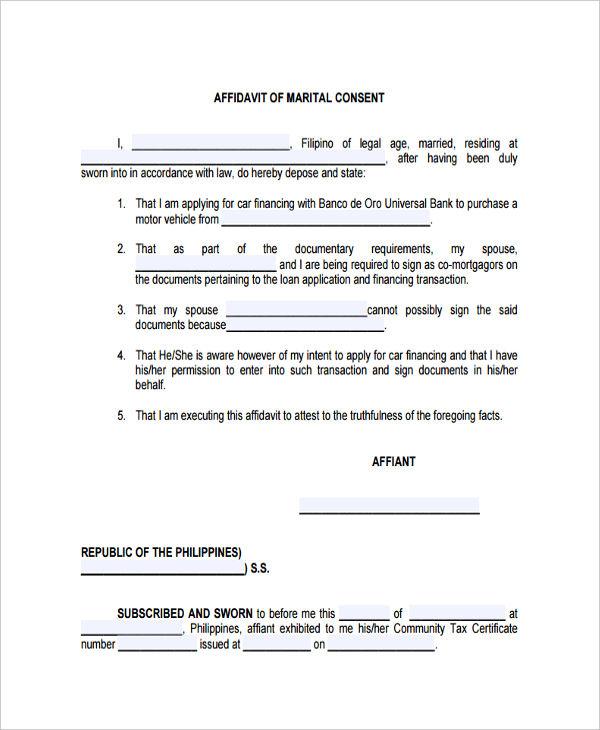 marital consent