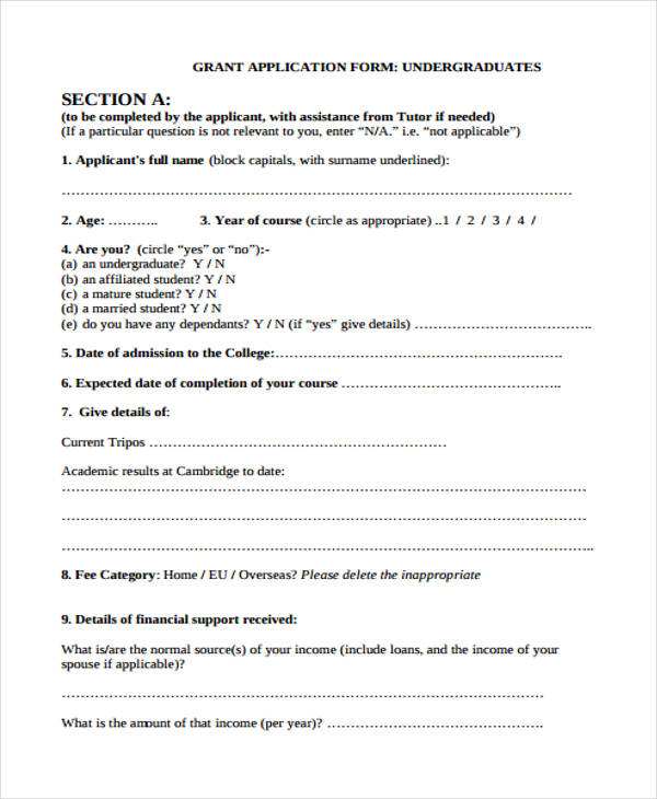 mature student grant application form1