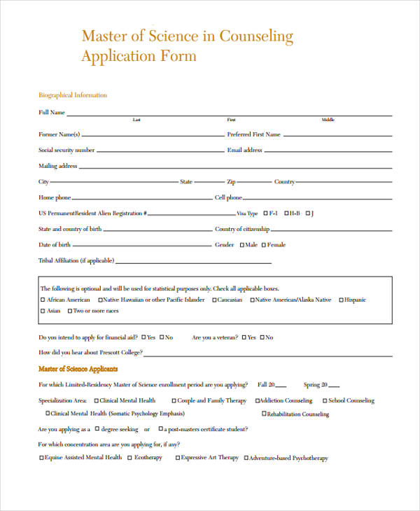 medical counseling application form1