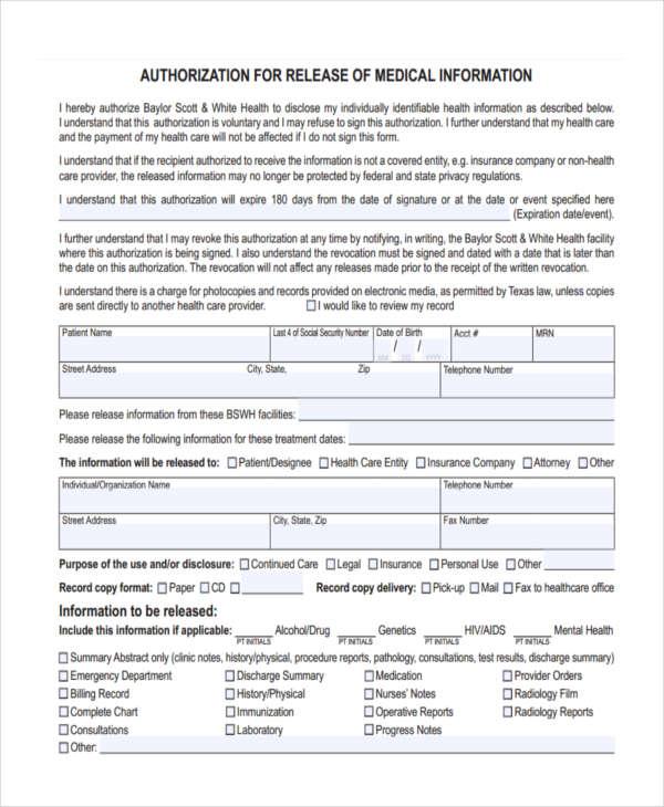 medical release information