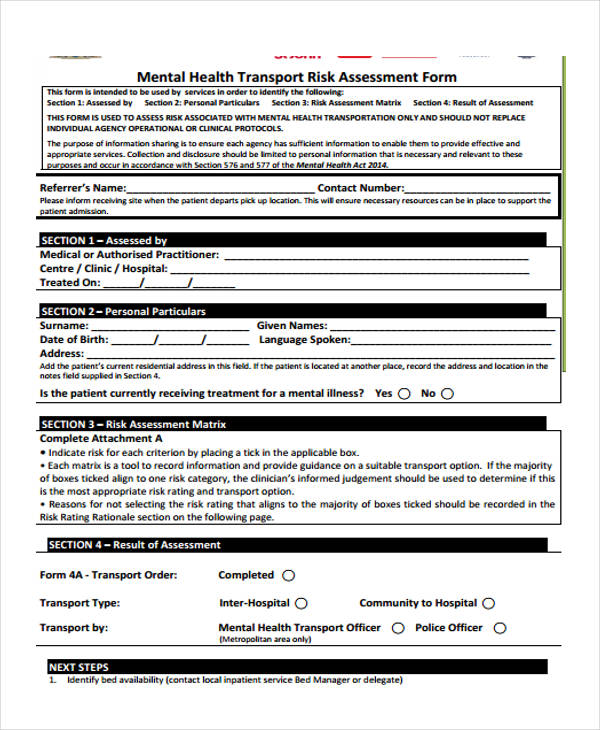 Health Assessment Forms In Pdf