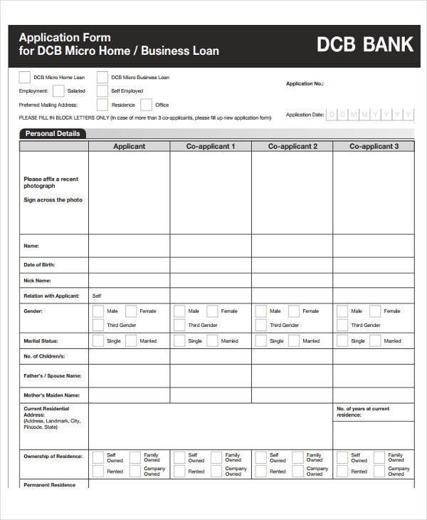 microhousing loan proposal form