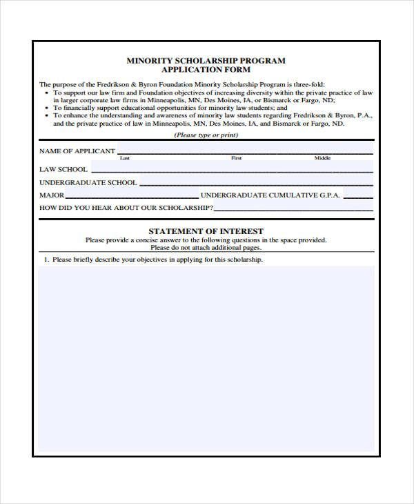 minority student scholarship application form1