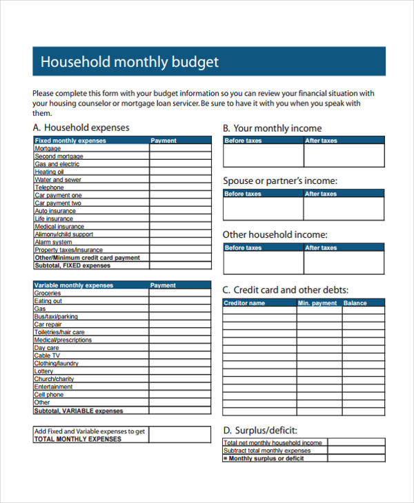 28 Expense Report Form in PDF – Monthly Expense Report Form