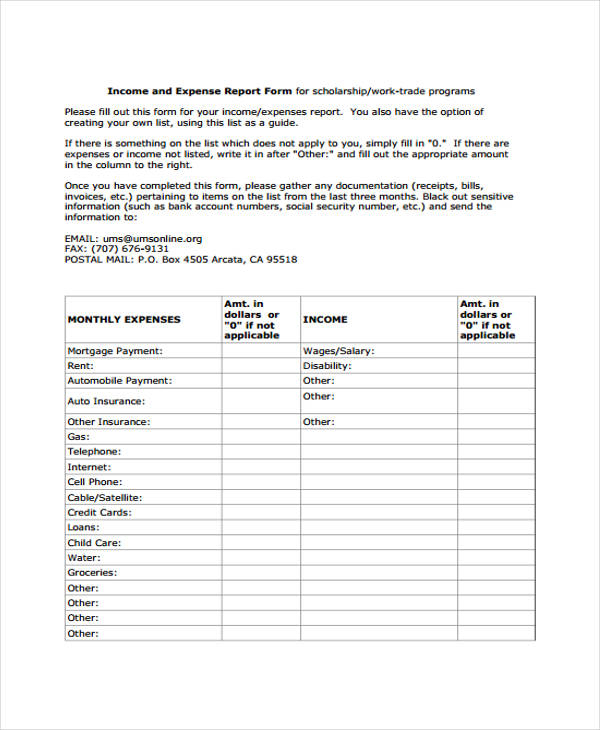 free 28   free expense report forms in pdf