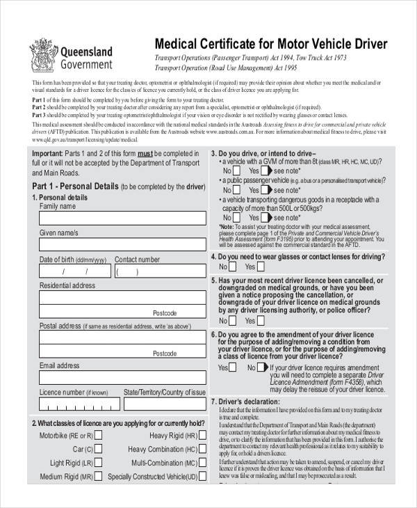 Medical Application Forms In Pdf
