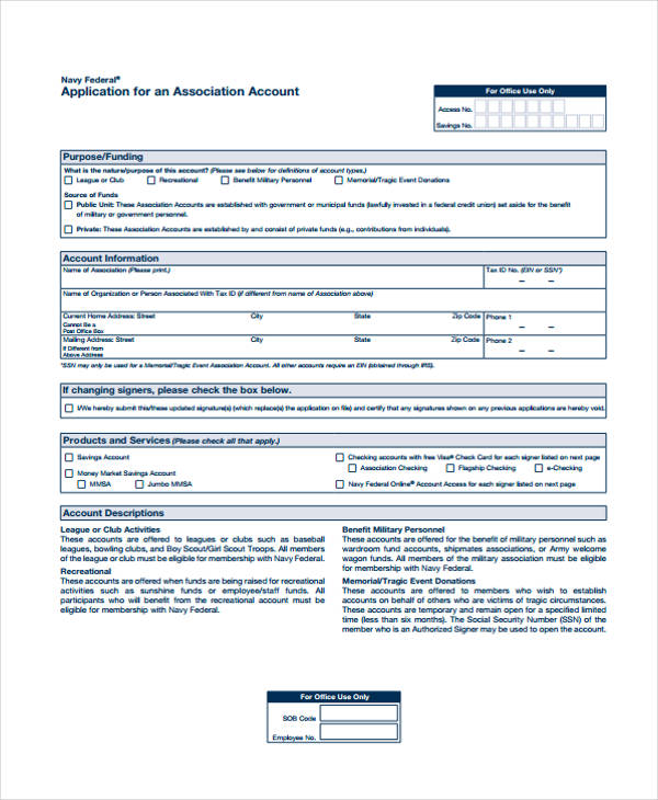 navy federal job application form
