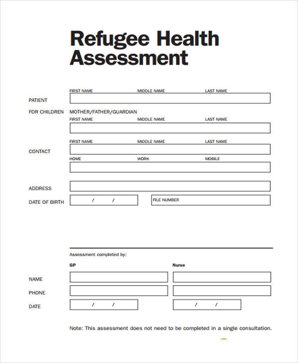 nursing initial health assessment form1