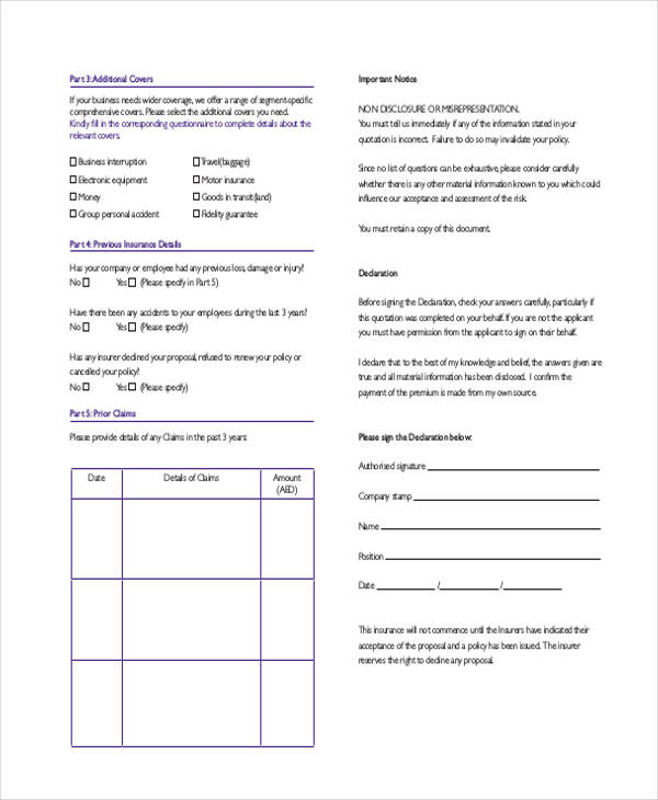 office comprehensive proposal form3