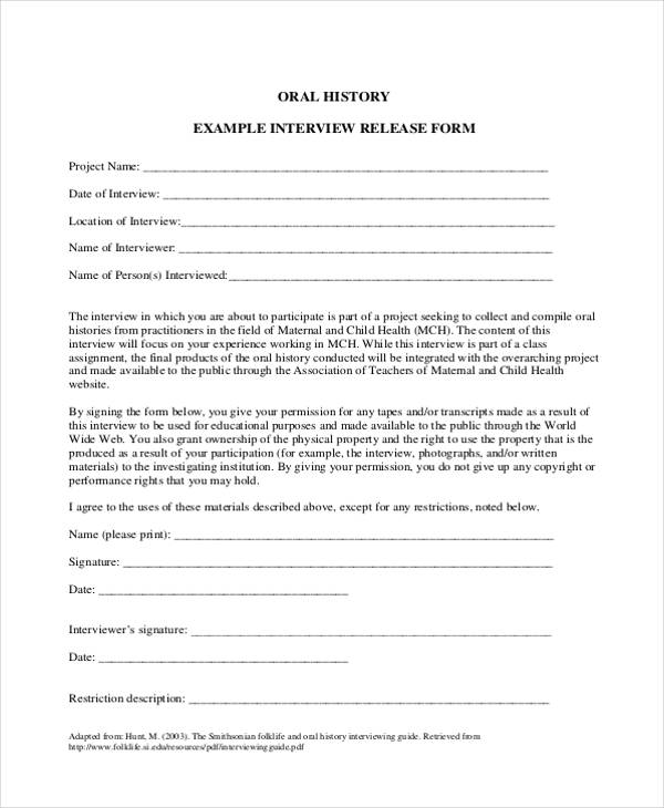 oral history interview release form2