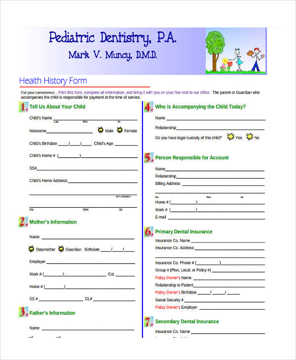 paediatric dental insurance form