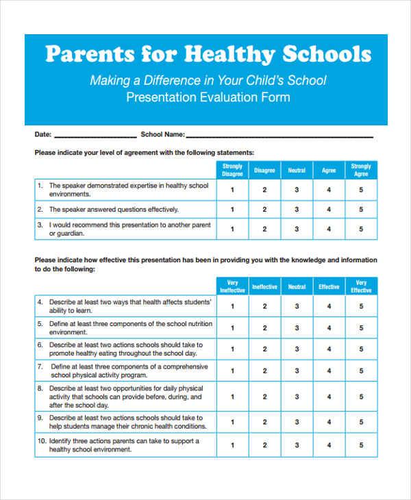 parents healthy schools presentation