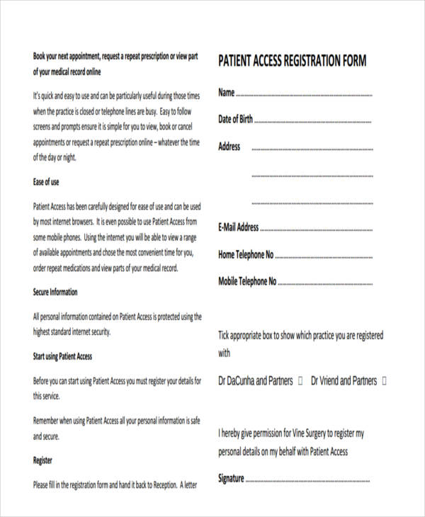 51 Printable Registration Forms