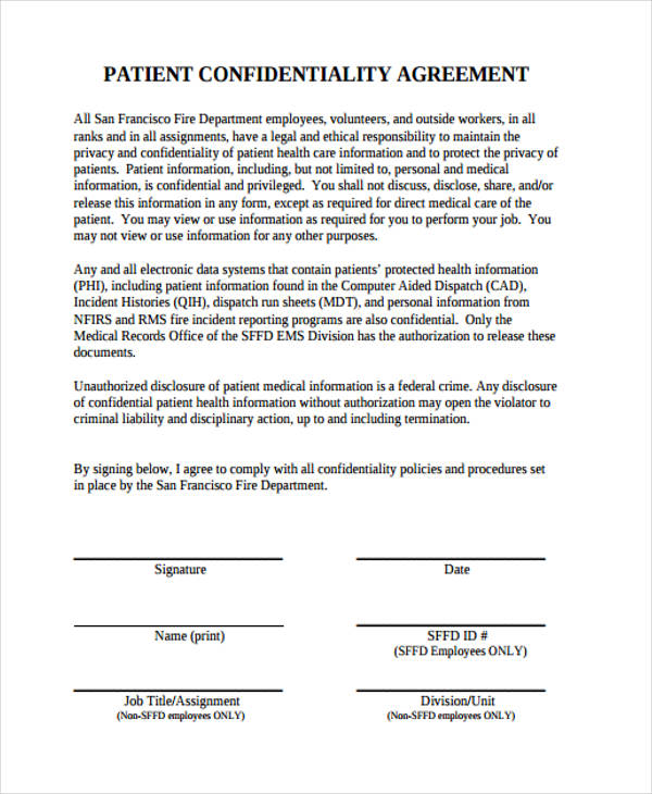 Data Confidentiality Agreements. Data Sharing Confidentiality