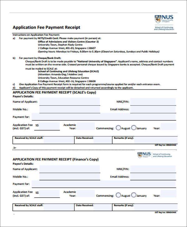 payment receipt application