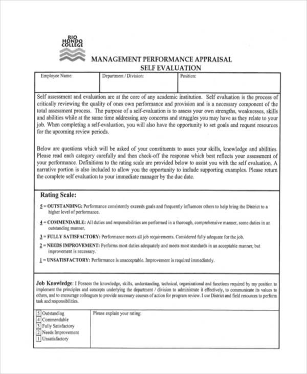 performance appraisal employee self review1