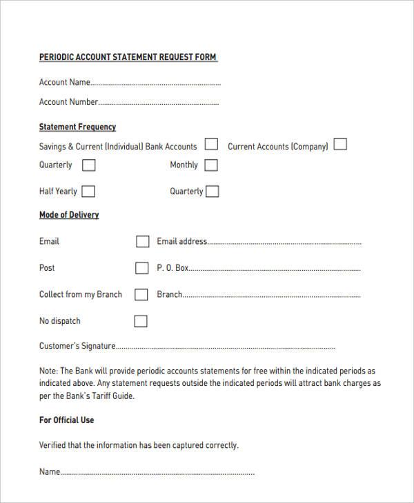periodic account statement