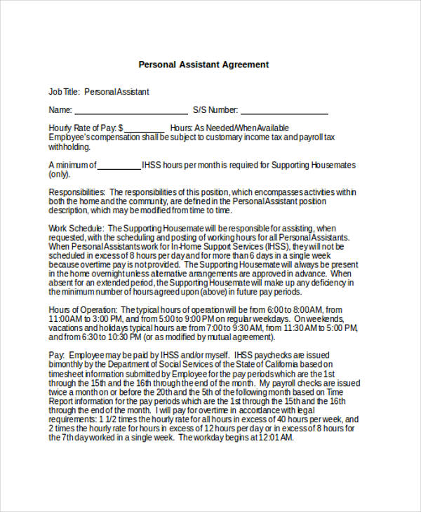 personal assistant confidentiality agreement form