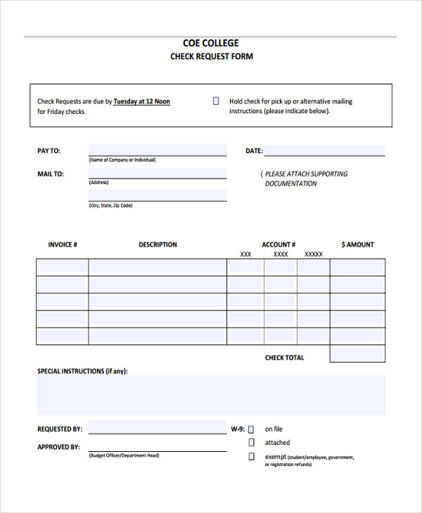 personal company request form