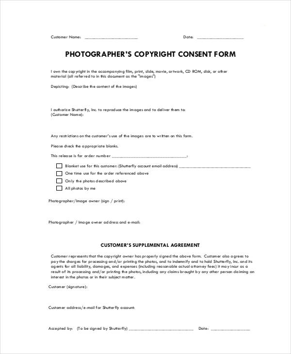 Print Release Forms Zoom Photography Print Release Form