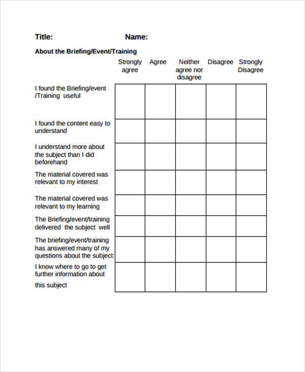 post training event feedback form2